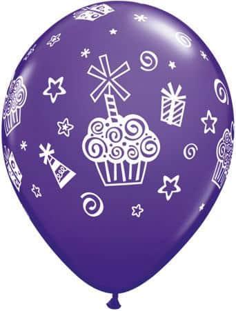 Luftballon Cupcakes violett