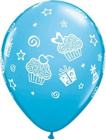Luftballon Cupcakes hellblau