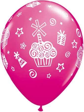 Luftballon Cupcakes magenta