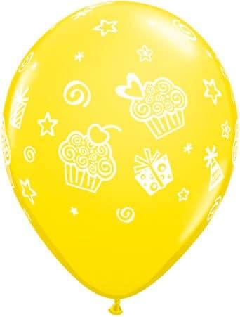 Luftballon Cupcakes gelb