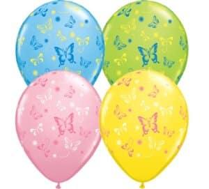 Luftballon mit Schmetterlingen