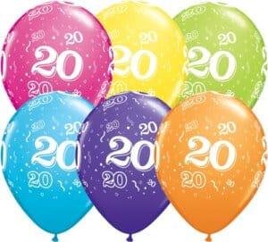 Luftballons Zahl 20