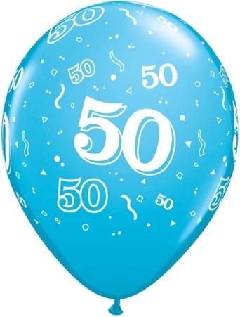 helium luftballon zahl 50 zum 50 geburtstag 28 cm. Black Bedroom Furniture Sets. Home Design Ideas