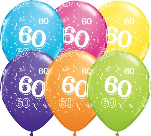 helium luftballon zahl 60 zum 60 geburtstag 28 cm. Black Bedroom Furniture Sets. Home Design Ideas