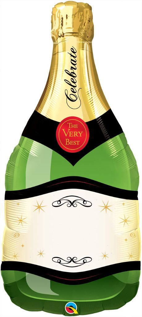 Champagnerflasche Sektflasche Luftballon Rückseite