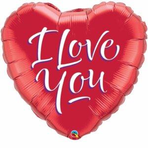 Herzballon I Love You 70 cm