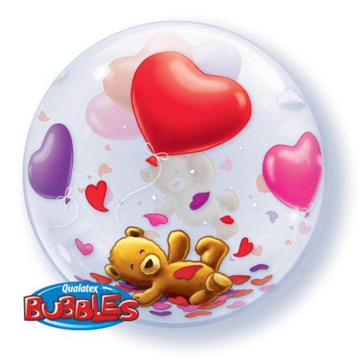 Teddy Herz Luftballon Rückseite