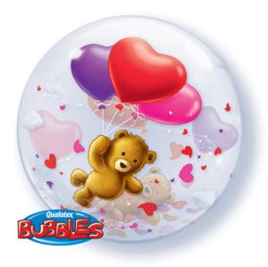 Teddy Herz Luftballon