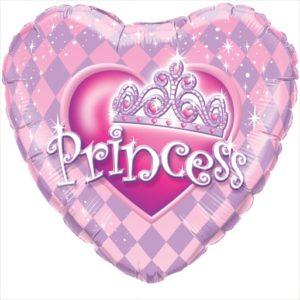 Princess Prinzessin Herz Ballon Luftballon