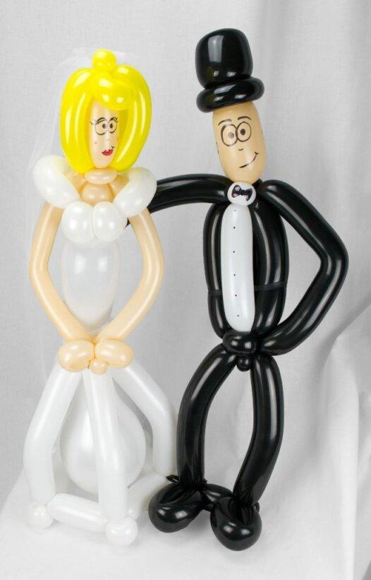 Brautpaar aus Luftballons 60 cm