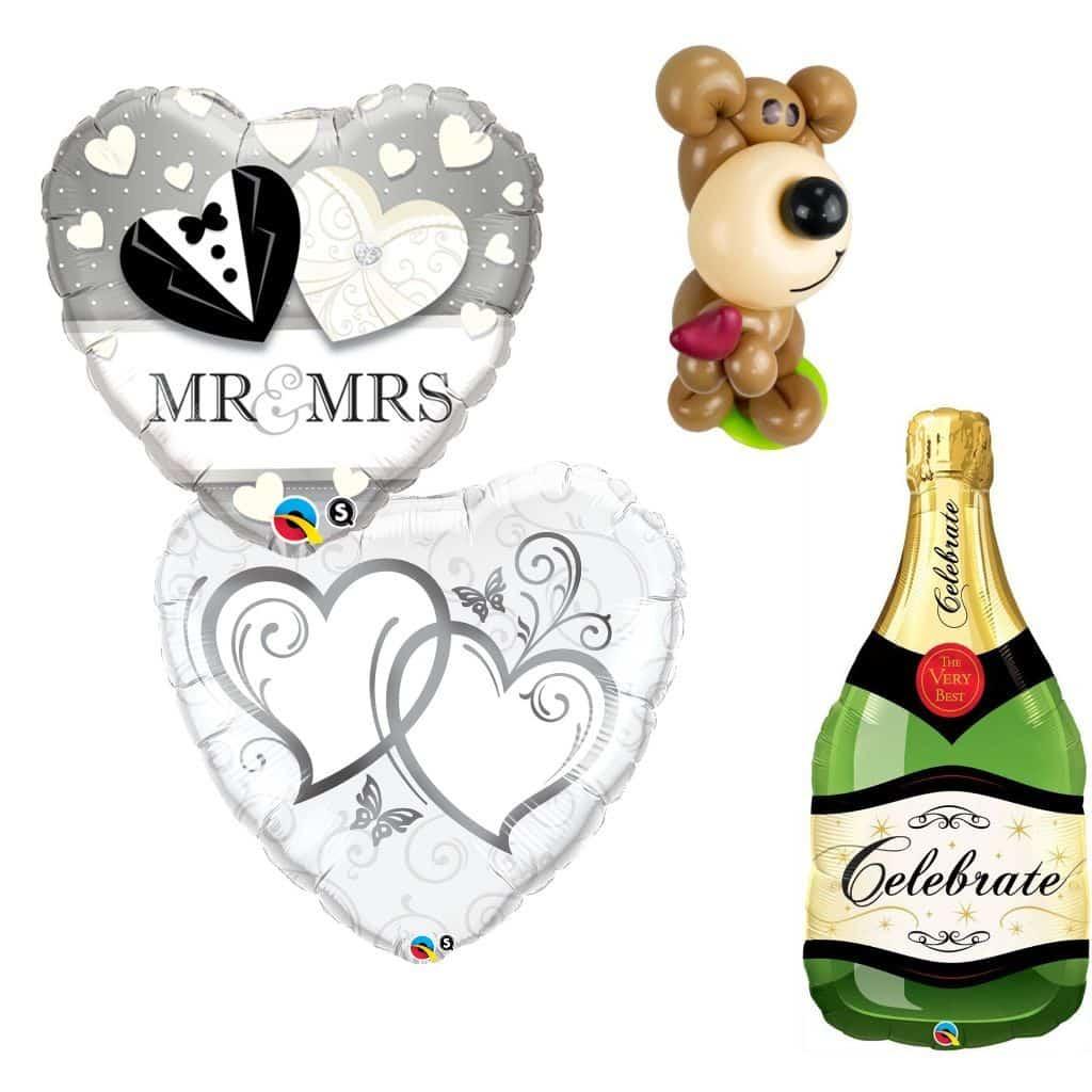 Luftballons Liebe und Hochzeit