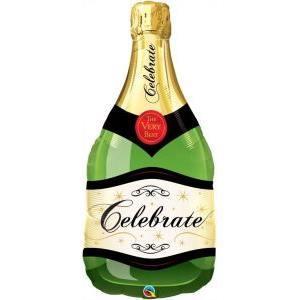 Luftballon Folienballon Flasche Sektflasche Sekt Champagner