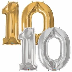 Riesen Zahl Zahlenballon 10 Jahre