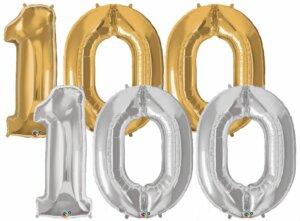 Riesen-Zahl 100 Jahre