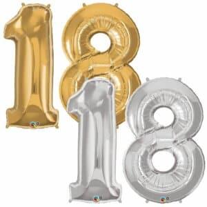 Riesen Zahl Zahlenballon 18 Jahre