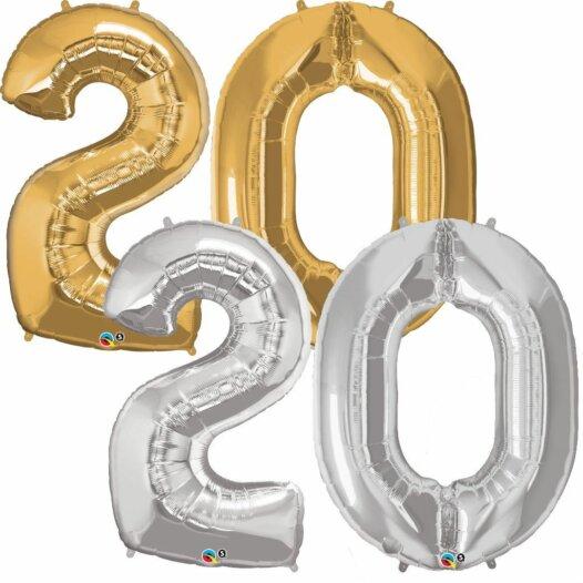 Riesen Zahl Zahlenballon 20 Jahre