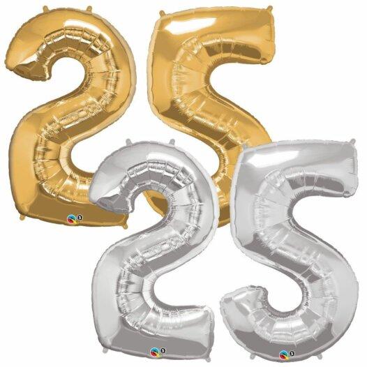 Riesen Zahl Zahlenballon 25 Jahre