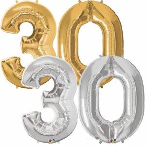 Riesen Zahl Zahlenballon 30 Jahre