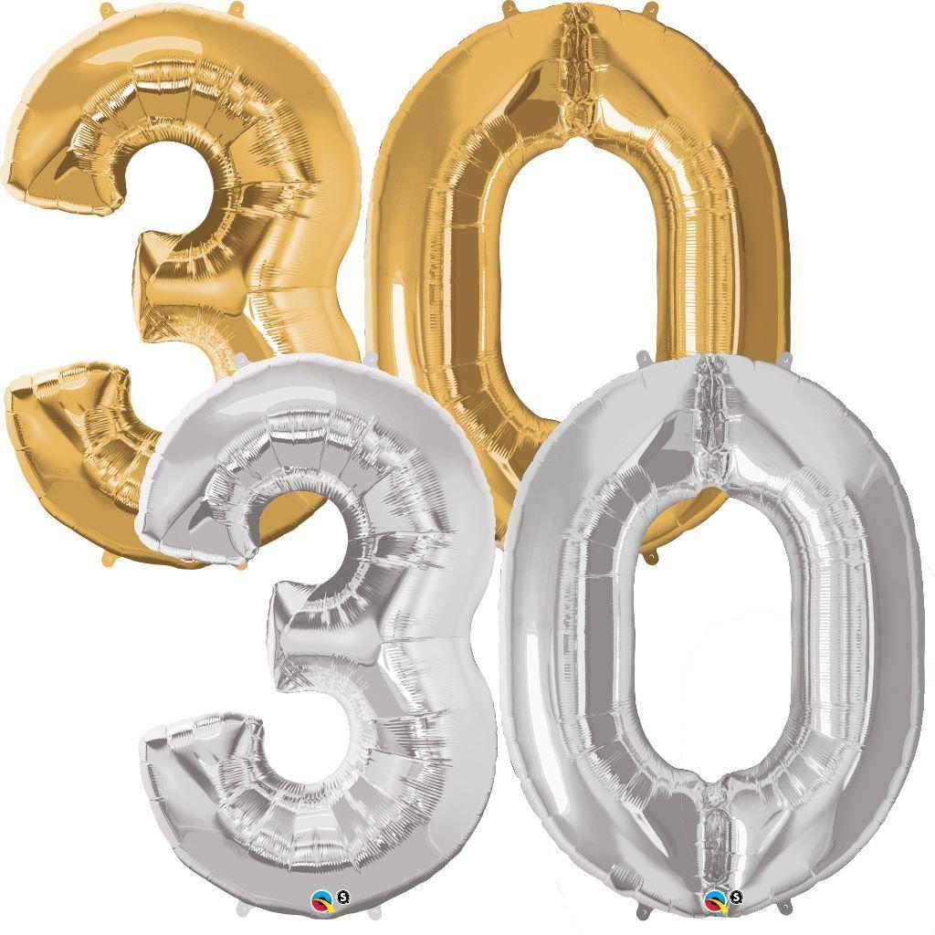 zahlenballon 30 riesen luftballon zahl mit helium. Black Bedroom Furniture Sets. Home Design Ideas