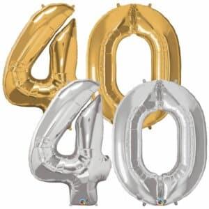 Riesen Zahl Zahlenballon 40 Jahre