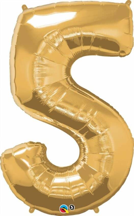 Riesen Zahl 5 Jahre gold