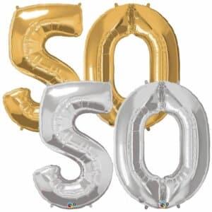 Riesen Zahl Zahlenballon 50 Jahre