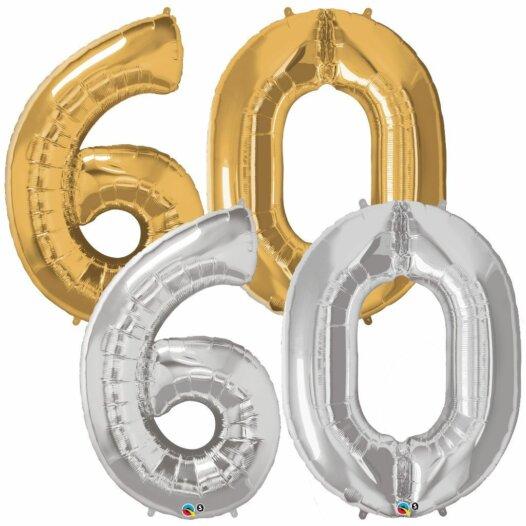 Riesen Zahl Zahlenballon 60 Jahre