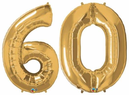 Riesen-Zahl 60 Jahre gold