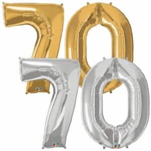 Riesen Zahl Zahlenballon 70 Jahre