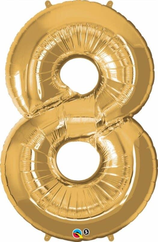 Riesen Zahl 8 Jahre gold