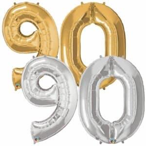 Riesen Zahl Zahlenballon 90 Jahre