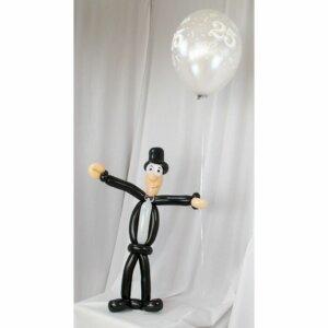 Bräutigam aus Luftballons Silberhochzeit mit Luftballon