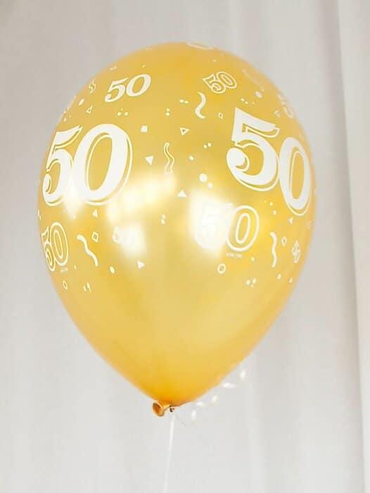 Luftballon zur Goldenen Hochzeit