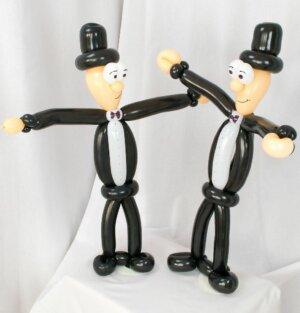 Schwules Brautpaar aus Luftballons