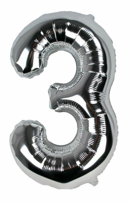 Geburtstagszahl 3 Luftballon