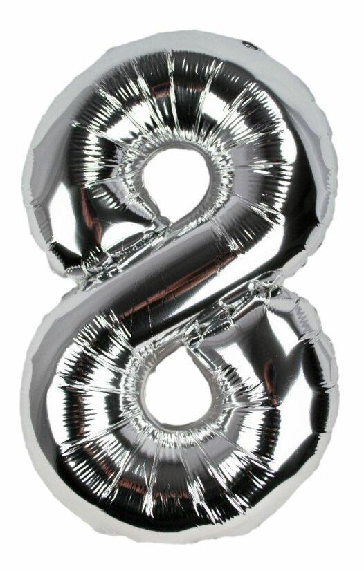 Geburtstagszahl 8 Luftballon