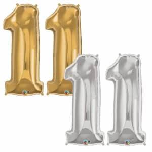 Riesen Zahl Zahlenballon 11 Jahre