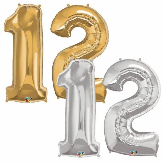 Riesen Zahl Zahlenballon 12 Jahre