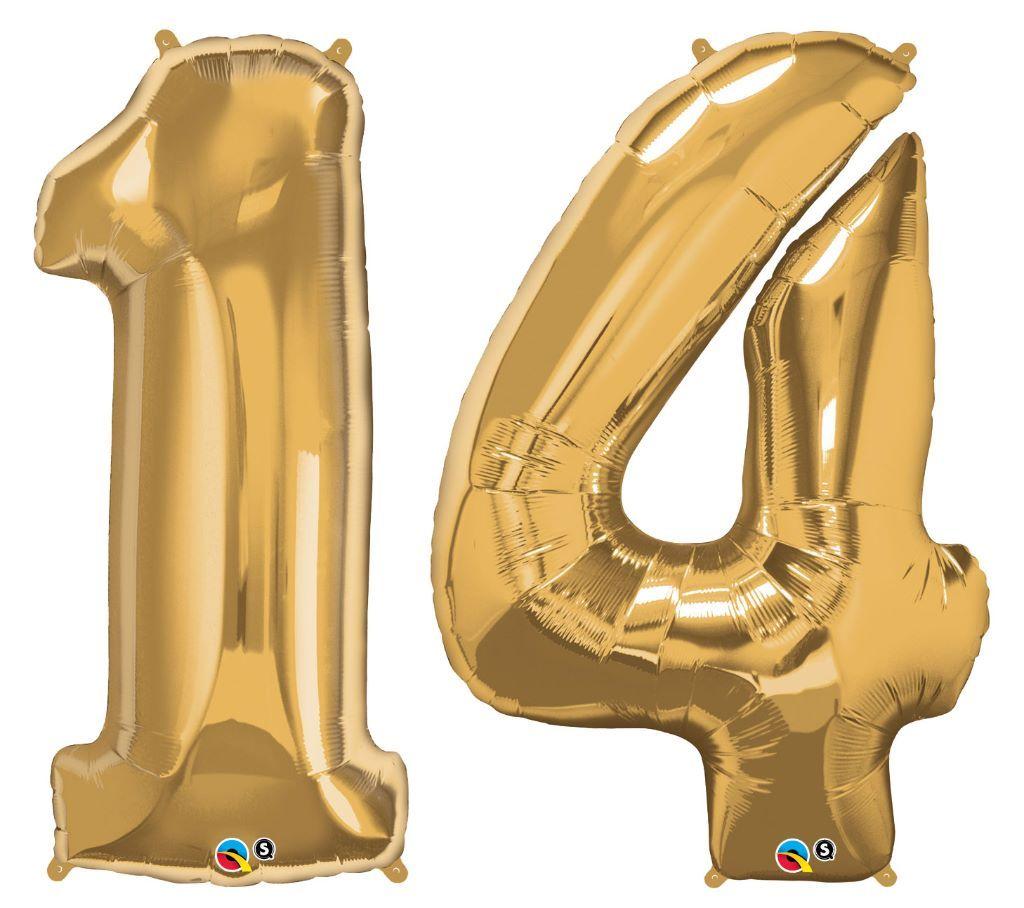 Zahlenballon 14 Riesen Luftballon Zahl Mit Helium