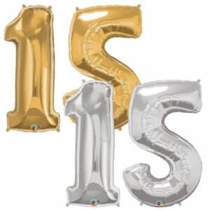 Riesen Zahl Zahlenballon 15 Jahre