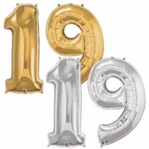 Riesen Zahl Zahlenballon 19 Jahre