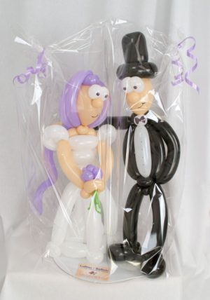 Brautpaar aus Luftballons