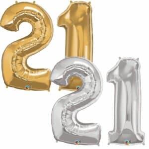 Riesen Zahl Zahlenballon 21 Jahre
