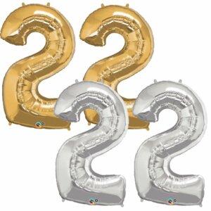 Riesen Zahl Zahlenballon 22 Jahre