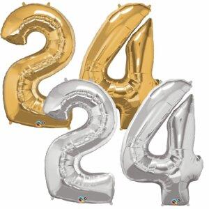 Riesen Zahl Zahlenballon 24 Jahre