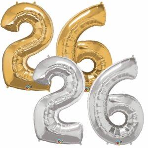 Riesen Zahl Zahlenballon 26 Jahre