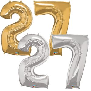 Riesen Zahl Zahlenballon 27 Jahre