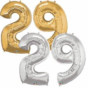 Riesen Zahl Zahlenballon 29 Jahre