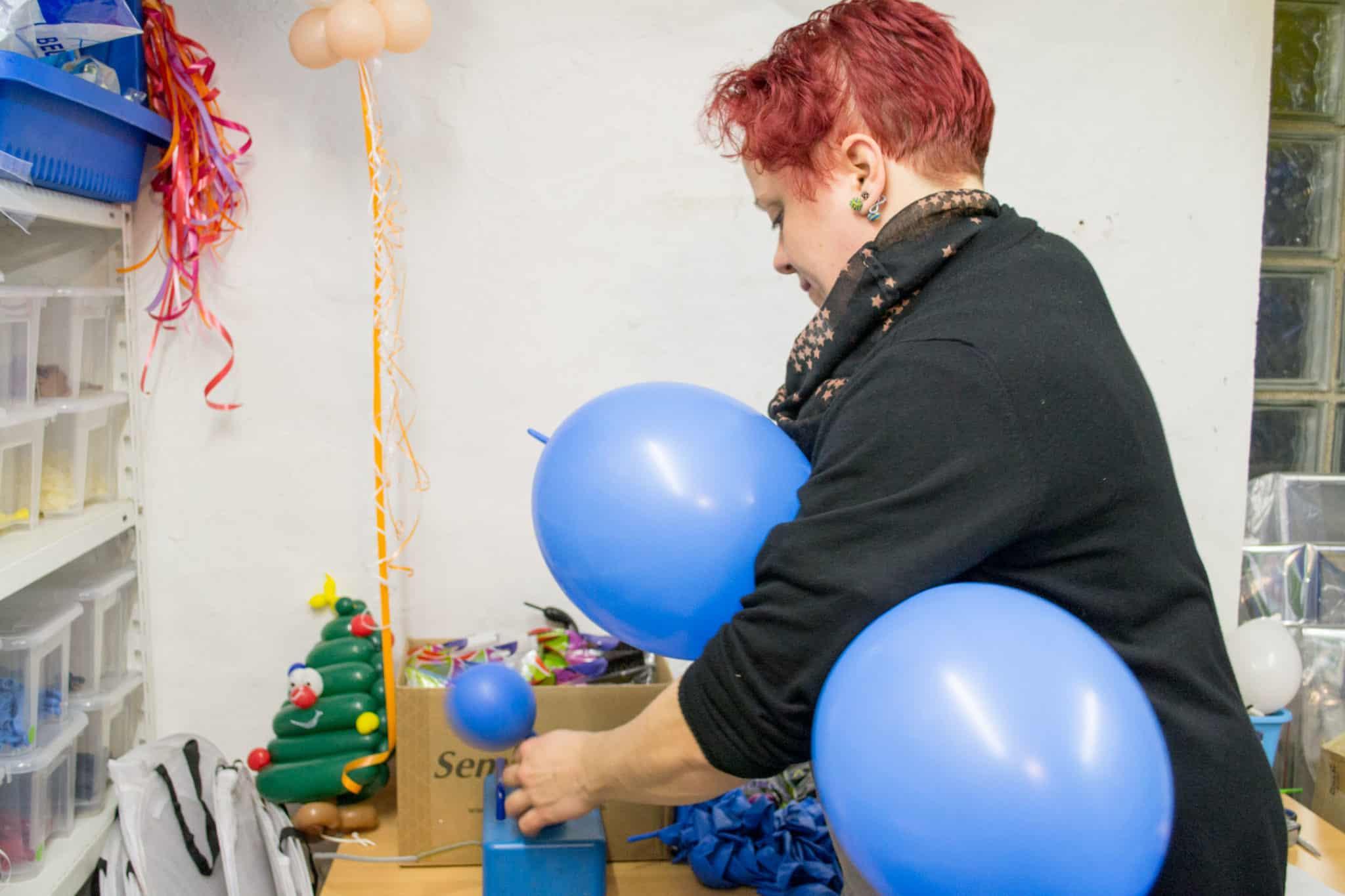 Entstehung Luftballon Fotostudio Kinderfotograf Bild 01