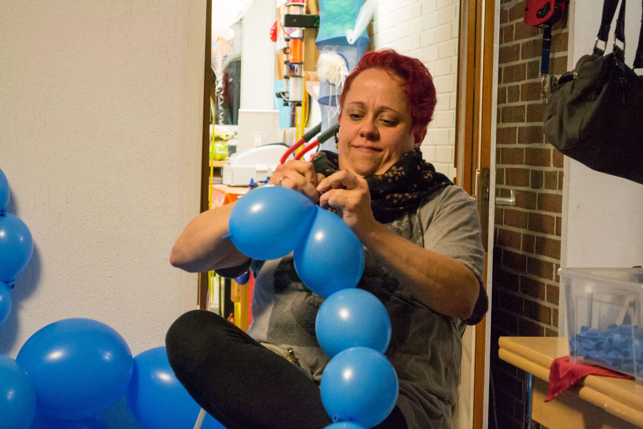 Entstehung Luftballon Fotostudio Kinderfotograf Bild 02